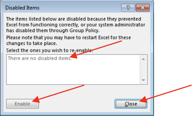 "Unicom Finance Excel add-in not in tabs troubleshooting Enable ""UNICOM Finance for Microsoft Excel"""