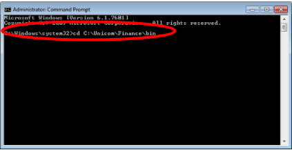 Unicom Finance Registering CFXL.dll Change folder directory C:\Unicom\Finance\bin