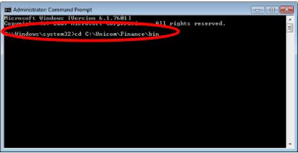 Unicom Finance Registering CFXL.dll Change folder directory C:\Unicom\Finance\bin