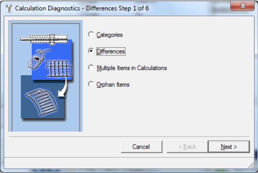 """Calculation Diagnostics – File Drop Down Menu – select """"Calculation Diagnostics"""