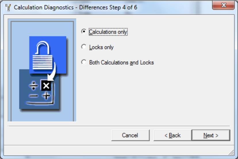 Calculations only Calculations Diagnostics