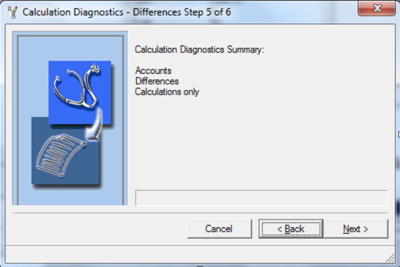 Calculations Diagnostics Summary