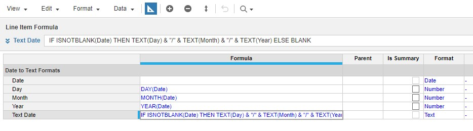 Anaplan Date to Text Formulas